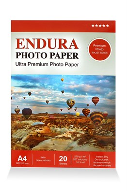 Endura Photo Paper A4 Satin-Mat (20X30cm) 20lik 270g