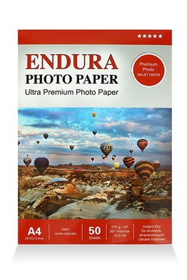Endura Photo Paper A4 Satin-Mat (20X30cm) 50lik 270g